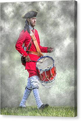French Army Drummer Fort Ligonier Portrait  Canvas Print