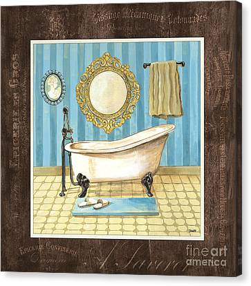 Wash Tubs Canvas Print - French Bath 1 by Debbie DeWitt