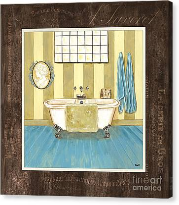 Wash Tubs Canvas Print - French Bath 2 by Debbie DeWitt