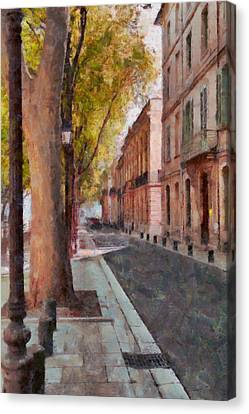 Canvas Print featuring the photograph French Boulevard by Scott Carruthers