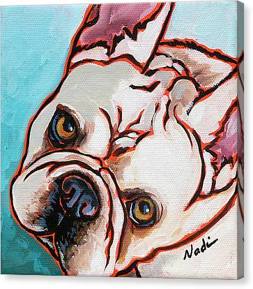 French Bulldog Canvas Print by Nadi Spencer