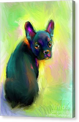 French Bulldog Painting 4 Canvas Print by Svetlana Novikova