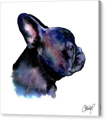French Bulldog Portrait Canvas Print by Christy  Freeman