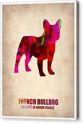 Bulldogs Canvas Print - French Bulldog Poster by Naxart Studio