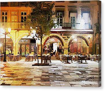 French Cafe Canvas Print