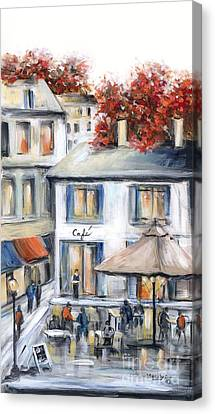 French Cafe Canvas Print by Marilyn Dunlap