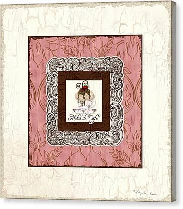 French Cafe Mocha - Moka De Cafe Canvas Print by Audrey Jeanne Roberts