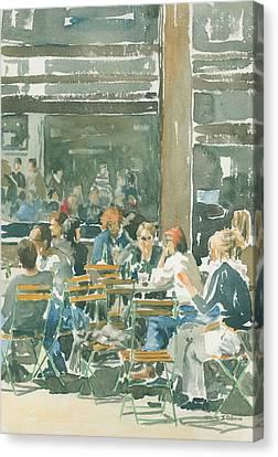 French Cafe Scene  Canvas Print by Ian Osborne