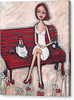Park Benches Canvas Print - French Chics by Denise Daffara