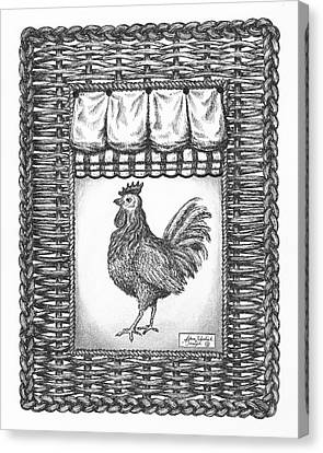 French Country Rooster Canvas Print by Adam Zebediah Joseph