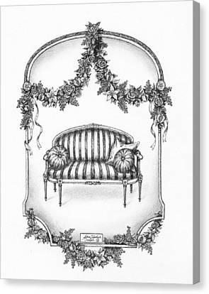 French Country Sofa Canvas Print by Adam Zebediah Joseph