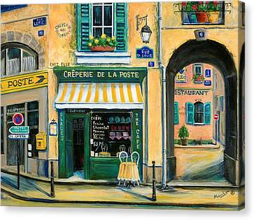 Pot Canvas Print - French Creperie by Marilyn Dunlap