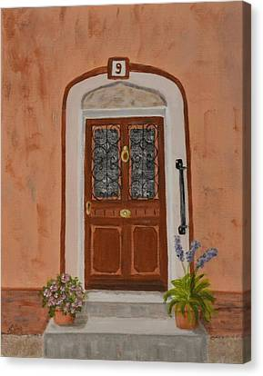French Door Number Nine  Canvas Print by Nancy Otey