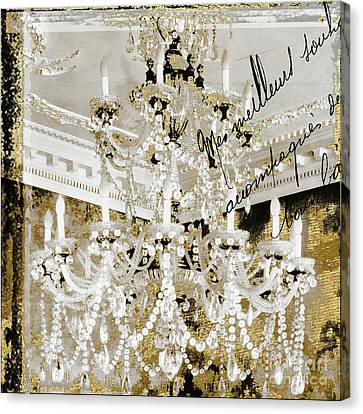 French Draped Pearls Chandelier Canvas Print by Mindy Sommers