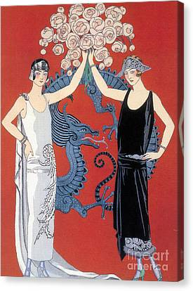 French Fashion, George Barbier, 1924 Canvas Print by Science Source