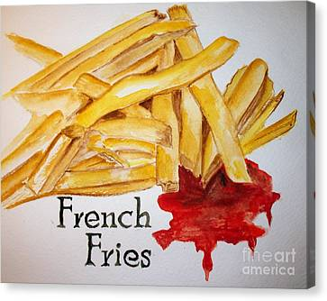 French Fries Canvas Print by Carol Grimes