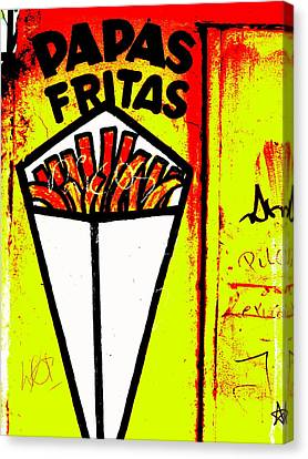 French Fries Santiago Style  Canvas Print by Funkpix Photo Hunter