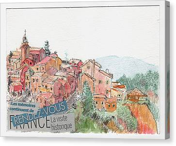 French Hill Top Village Canvas Print by Tilly Strauss