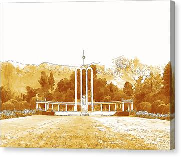 French Huguenot Monument In Franschhoek  Canvas Print