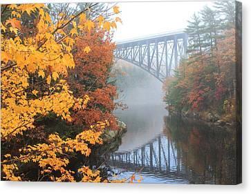 French King Bridge Autumn Canvas Print by John Burk