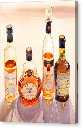 Cognac Canvas Print - French Liqueurs by Mary Helmreich