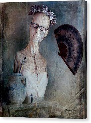 French Mannequin Bust Still Life Canvas Print