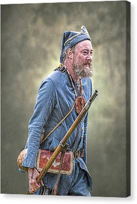 French Marine Portrait Canvas Print by Randy Steele