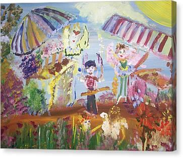 French Market Fairies Canvas Print by Judith Desrosiers