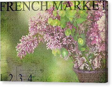 French Market Series M Canvas Print by Rebecca Cozart
