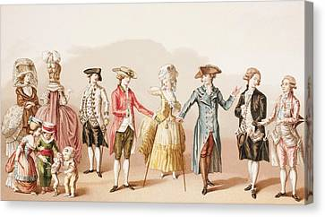 French Men S Fashions During The Reign Canvas Print