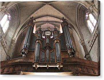 French Organ Canvas Print by Christin Brodie