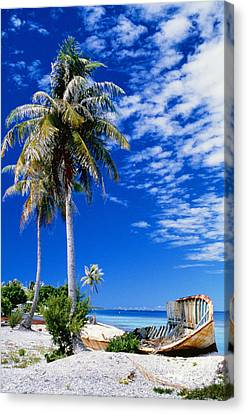 French Polynesia, Beach Canvas Print by Peter Stone - Printscapes