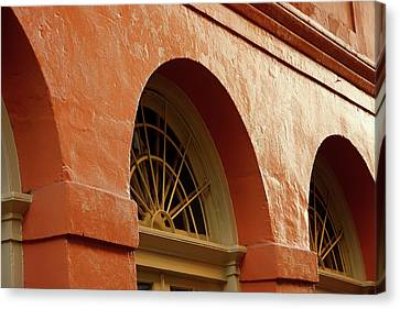 Canvas Print featuring the photograph French Quarter Arches by KG Thienemann