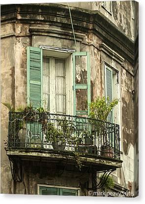 French Quarter Balcony Canvas Print
