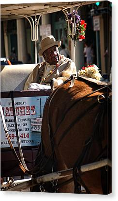 Chrystal Canvas Print - French Quarter Carriage by Chrystal Mimbs
