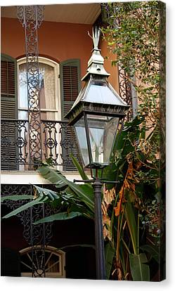 Canvas Print featuring the photograph French Quarter Courtyard by KG Thienemann