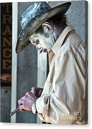 French Quarter Cowboy Mime Canvas Print by Kathleen K Parker