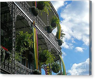 French Quarter Iron Work Canvas Print