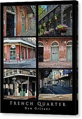 French Quarter - New Orleans - Collage Canvas Print
