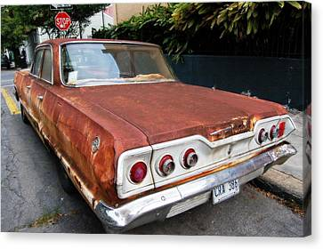 French Quarter Rusty Chevy Canvas Print