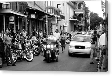 Canvas Print featuring the photograph French Quarter Street Scene by Kate Purdy