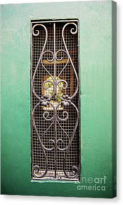French Quarter Window To The Courtyard Canvas Print