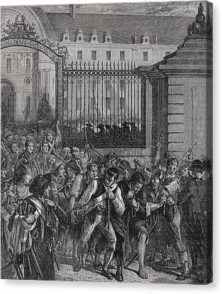 French Revolution Pillage Of The Canvas Print