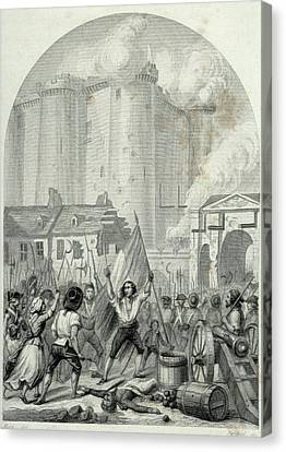 French Revolution Storming Of The Canvas Print