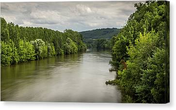 French River Landscape Canvas Print by Georgia Fowler
