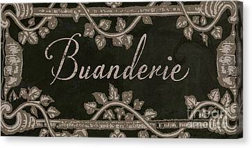 French Vintage Laundry Sign Canvas Print by Mindy Sommers
