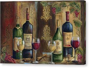Glass Of Wine Canvas Print - French Wine Tasting by Marilyn Dunlap