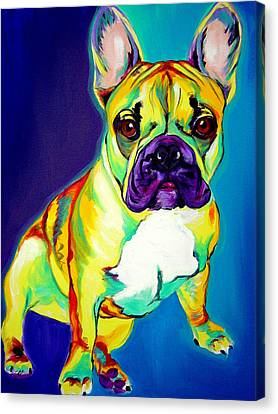 Frenchie - Tugboat Canvas Print by Alicia VanNoy Call
