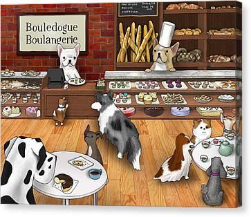 Boulangerie Canvas Print - Frenchie Bakery by Douglas Mahoney