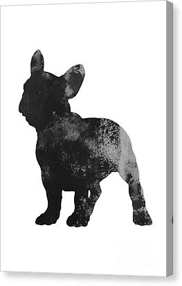 Frenchie Drawing Watercolor Art Print Canvas Print by Joanna Szmerdt